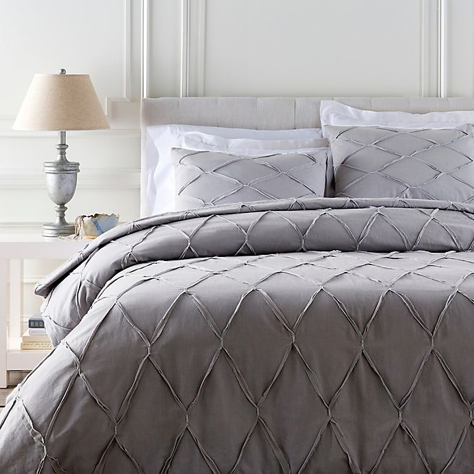 Alternate image 1 for Surya Aiken King/California King Duvet Cover Set in Grey/Silver
