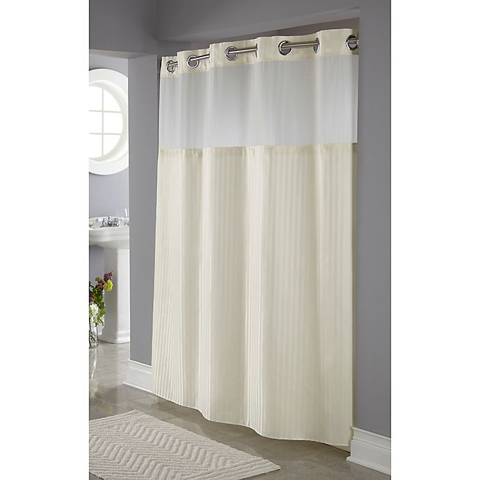 Hookless Clear Shower Curtain.Hookless Classic Herringbone Shower Curtain Bed Bath Beyond