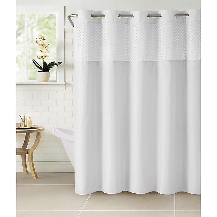 Alternate image 1 for Hookless® Bahamas Eyelet Shower Curtain in White