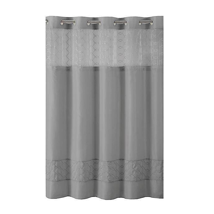 Alternate image 1 for Hookless® Downtown Soho Shower Curtain in Slate