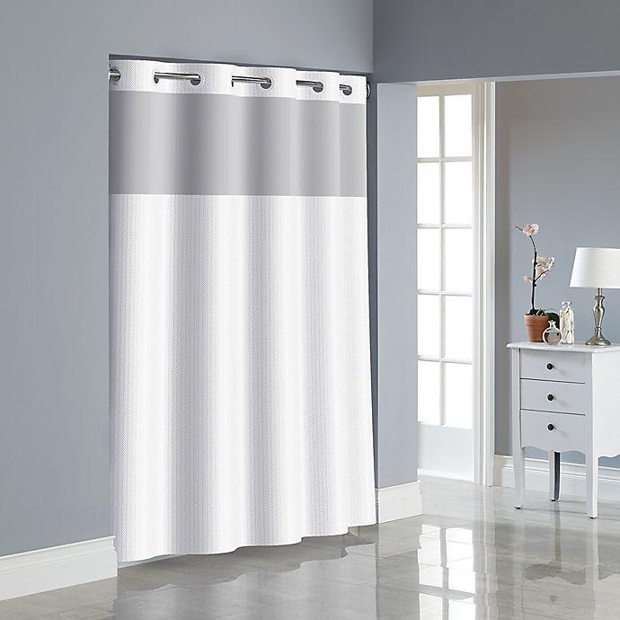 Alternate image 1 for Hookless® Herringbone Shower Curtain