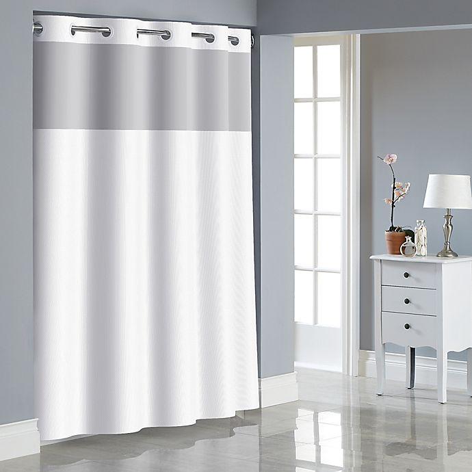 Alternate image 1 for Hookless® Dobby Texture Shower Curtain in Bright White