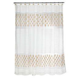Popular Bath Seraphina Shower Curtain in Beige/Gold