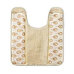 Popular Bath Seraphina 21-Inch x 24-Inch Contour Bath Rug in Gold