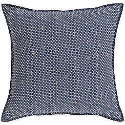 Surya Japiko Bohemian European Pillow Sham in Navy/Cream