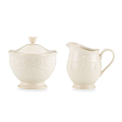 Lenox® French Perle™ Sugar Bowl and Creamer in White