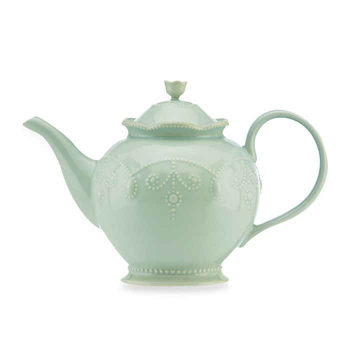 Alternate image 1 for Lenox® French Perle™ Teapot in Ice Blue