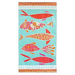 Dena™ Home Mineko Fish Beach Towel in Blue