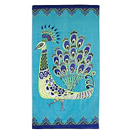 Dena™ Home Blue Peacock Beach Towel