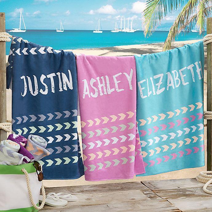Alternate image 1 for Tribal Inspired Name Beach Towel