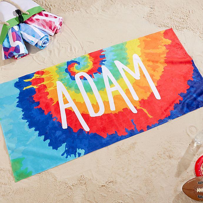 Alternate image 1 for Tie-Dye Fun Beach Towel