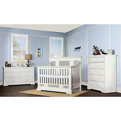 evolur™ Parker Nursery Furniture Collection in White/Grey