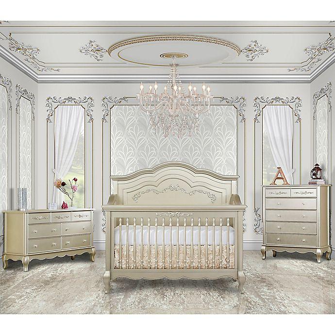 Evolur Aurora Nursery Furniture Collection In Gold Dust