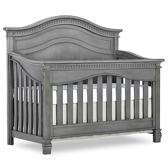 Alternate image 1 for evolur™ Cheynne 5-in-1 Convertible Crib in Storm Grey