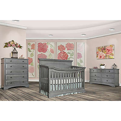 evolur™ Catalina Flat Top Nursery Furniture Collection in Storm Grey