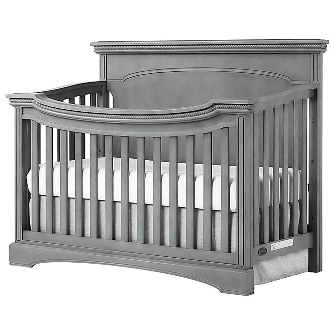 Alternate image 1 for evolur™ Catalina Flat Top 4-in-1 Convertible Crib in Storm Grey