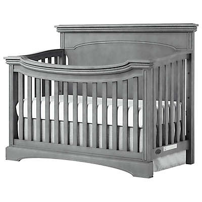 evolur™ Catalina Flat Top 4-in-1 Convertible Crib in Storm Grey