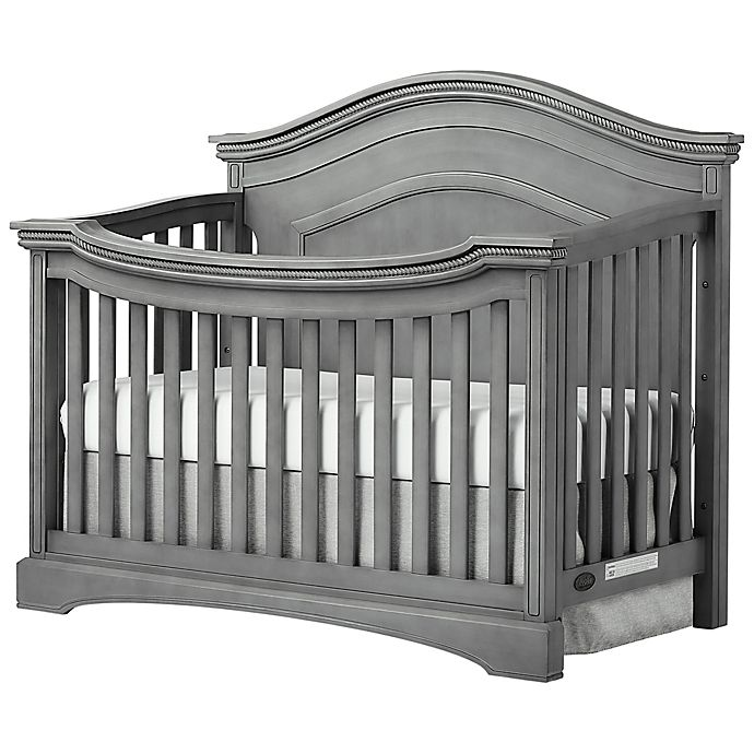 Alternate image 1 for evolur™ Adora Curve 4-in-1 Convertible Crib in Storm Grey