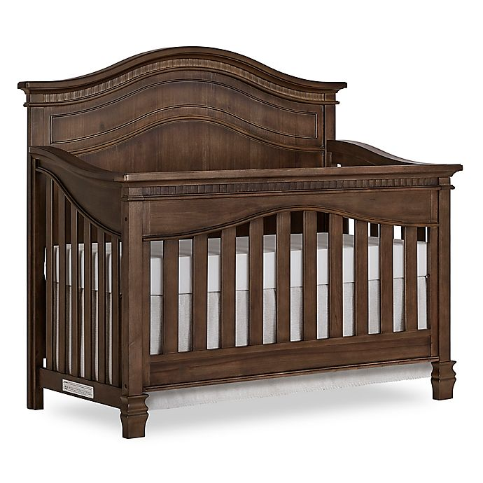 Alternate image 1 for evolur™ Cheynne 5-in-1 Convertible Crib in Antique Brown