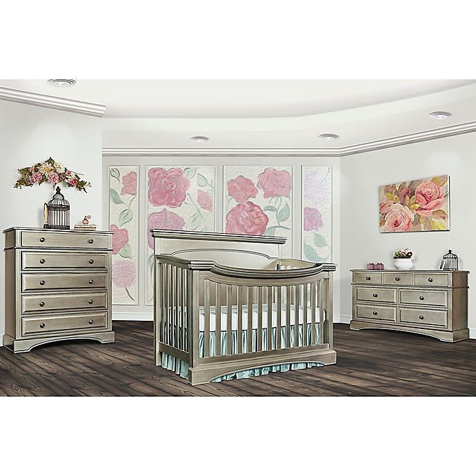 evolur™ Catalina Flat Top Nursery Furniture Collection in Antique Bronze - Evolur™ Catalina Flat Top Nursery Furniture Collection In Antique