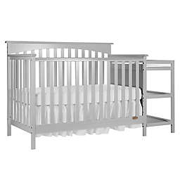 Dream On Me Chloe 5-in-1 Convertible Crib with Changer in Grey