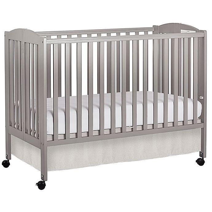 Dream On Me Folding Full Size Crib In Steel Grey Buybuy Baby