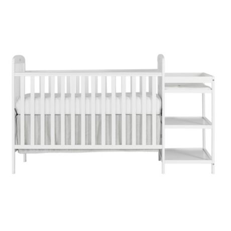 dream on me anna 4 in 1 convertible crib and changing table combo in white buybuy baby. Black Bedroom Furniture Sets. Home Design Ideas