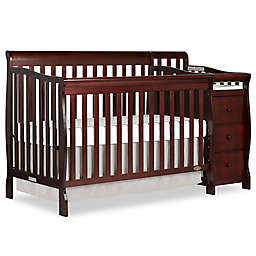 Dream On Me Brody 5-in-1 Convertible Crib and Changer in Espresso