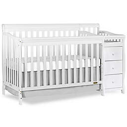 Dream On Me Brody 5-in-1 Convertible Crib and Changer in White