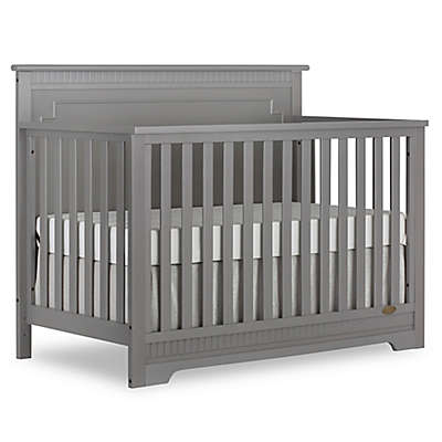Dream On Me Morgan 5-in-1 Convertible Crib in Steel Grey