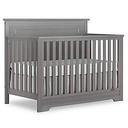 Dream On Me Morgan 5-in-1 Convertible Crib in Steel Grey
