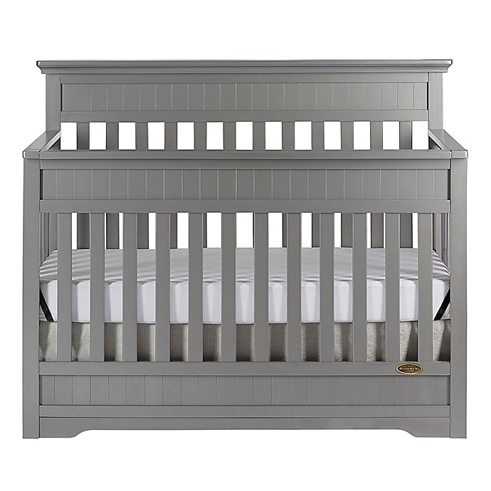 Alternate image 1 for Dream On Me Chesapeake 5-in-1 Convertible Crib in Steel Grey