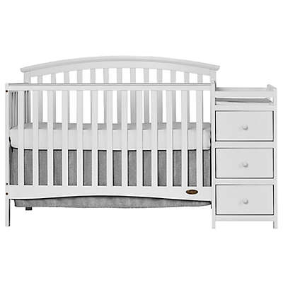 Dream On Me Niko 5-in-1 Convertible Crib and Changer in White