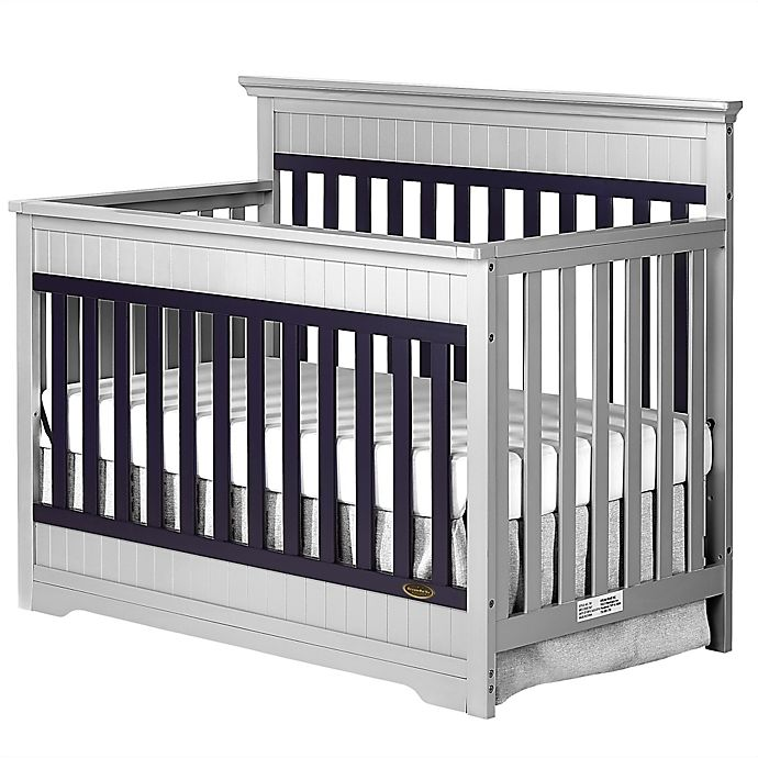 Alternate image 1 for Dream On Me Chesapeake 5-in-1 Convertible Crib in Platinum