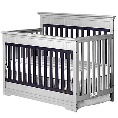 Dream On Me Chesapeake 5-in-1 Convertible Crib in Platinum