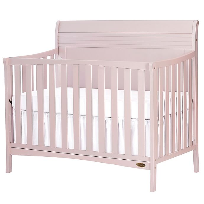 Alternate image 1 for Dream-On-Me Bailey 5-in-1 Convertible Crib in Pink Blush