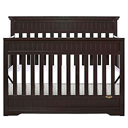 Dream On Me Chesapeake 5-in-1 Convertible Crib in Mocha