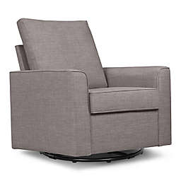 Million Dollar Baby Alden Swivel Glider in Steel Grey Tweed