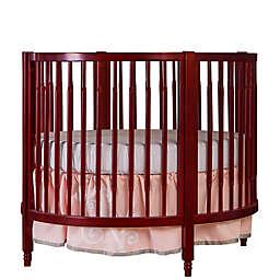 Dream On Me Sophia Posh Circular Crib in Cherry