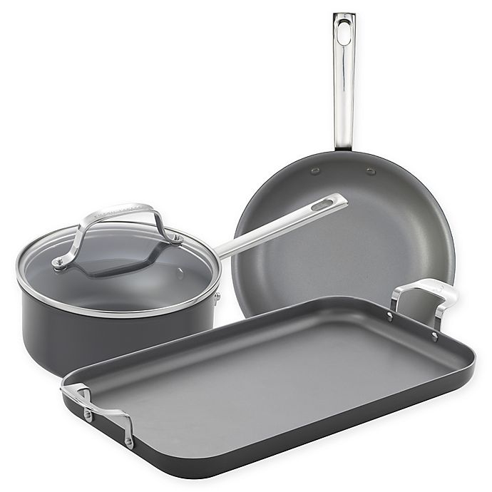 Alternate image 1 for Emeril™ Nonstick Hard Anodized 4-Piece Cookware Set in Charcoal