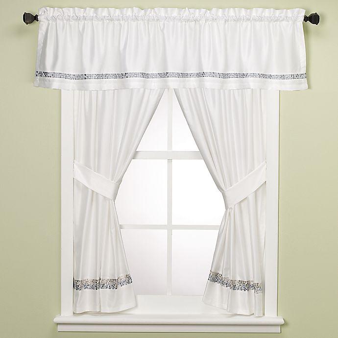 Croscill® Spa Tile Bathroom 45-Inch Window Curtain Panel