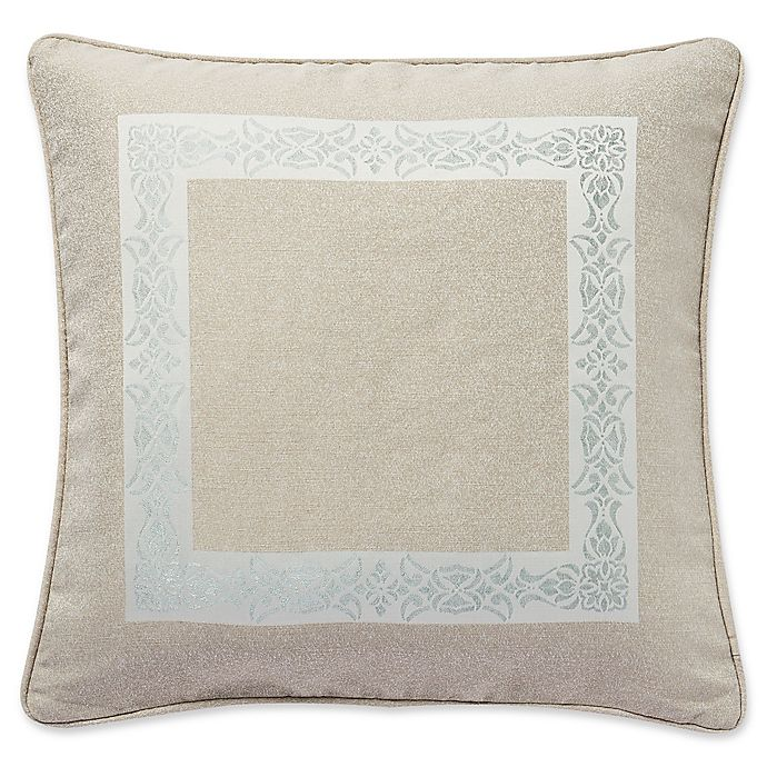 Alternate image 1 for Waterford® Gwyneth European Pillow Sham in Pale Blue