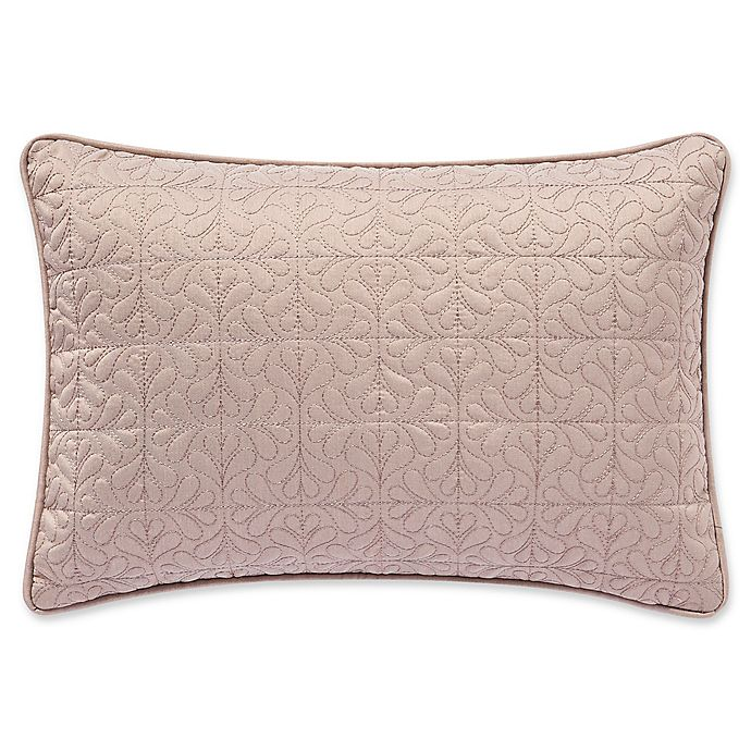 Alternate image 1 for Waterford® Gwyneth Oblong Throw Pillow in Pink