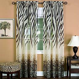 Achim Kenya Rod Pocket Window Curtain Panel