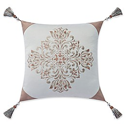 Waterford® Gwyneth Square Throw Pillow in White/Gold