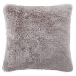 Waterford® Florence Faux Fur Throw Pillow in Taupe