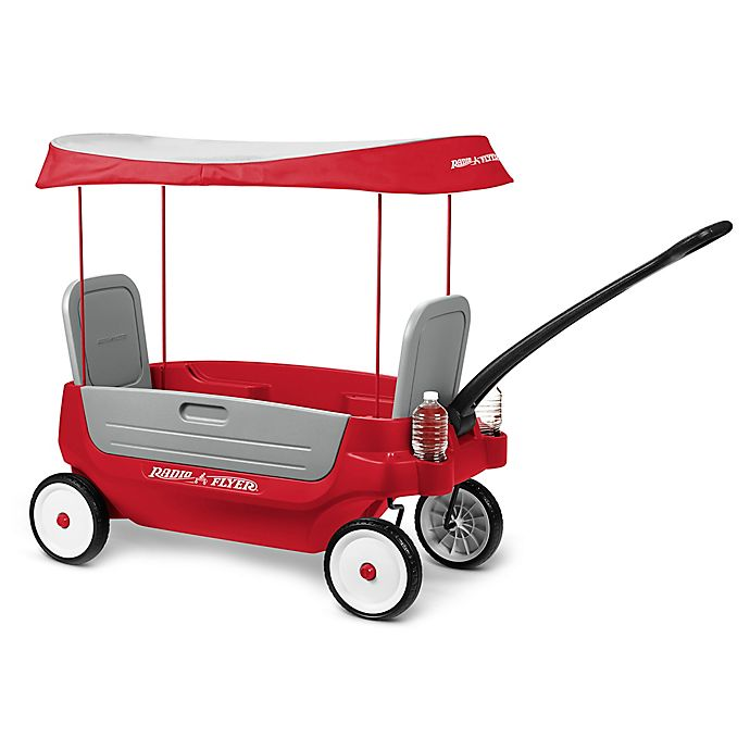 Alternate image 1 for Radio Flyer® Deluxe 3-in-1 Grandstand Wagon with Canopy