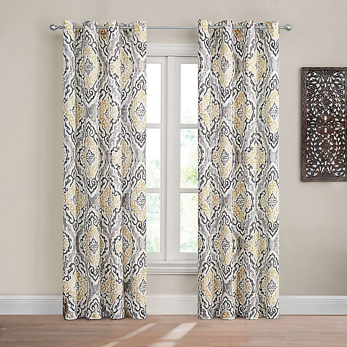 Alternate image 1 for Design Solutions Caleb Grommet Light-Filtering Window Curtain Panel