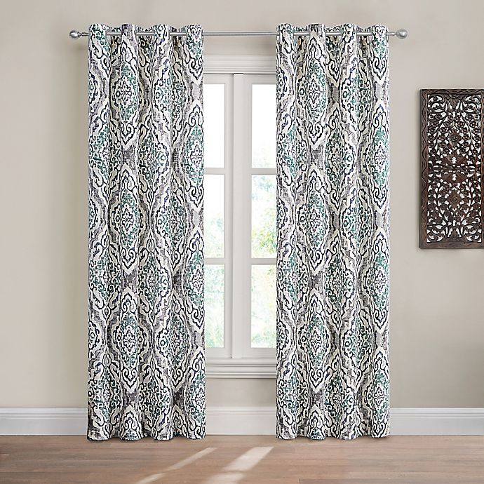 Alternate image 1 for Design Solutions Caleb 108-Inch Grommet Light-Filtering Window Curtain Panel in Spa