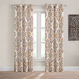 Design Solutions Caleb 84-Inch Grommet Light-Filtering Window Curtain Panel in Spice